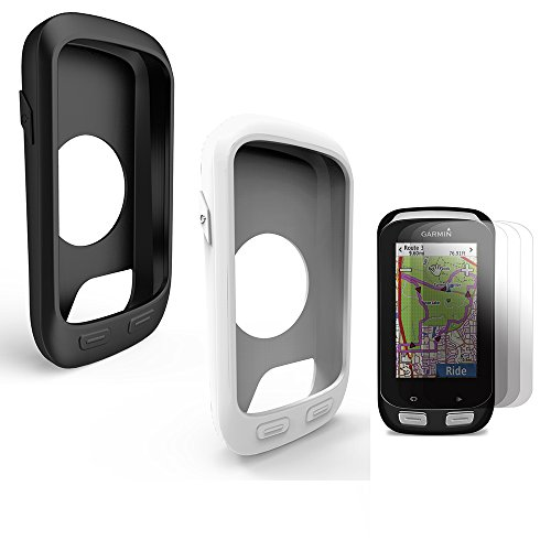 TUSITA [2-PACK] Protective Cover for Garmin Edge 1000/Approach G8,Replacement Silicone Skin Case with Screen Protector for Garmin GPS Bike Computer -