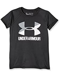 Under Armour Girls Solid Big Logo Short Sleeve T-Shirt
