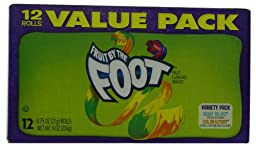 Fruit by the Foot, Berry Tie-Dye, 12-Count Rolls (Pack of 6)