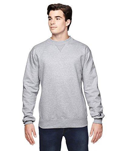 - Cotton Max Crew Sweatshirt, Grey, XL
