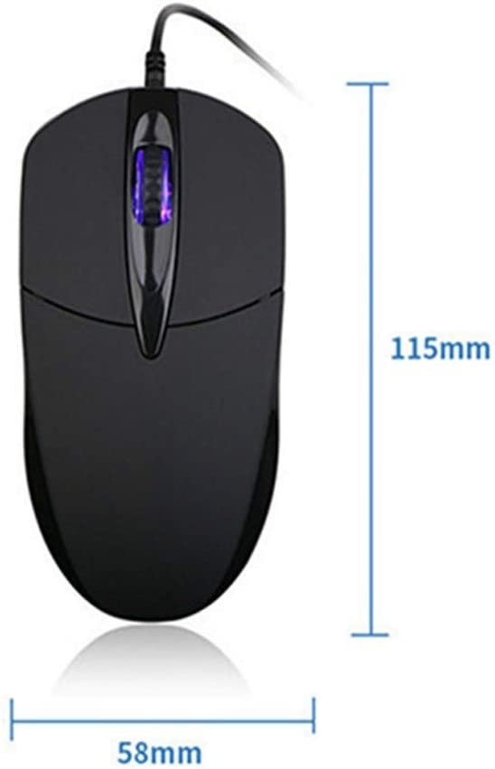 Color : Audio Version KQHSM Small New Air 12.2 Inch Gaming Mouse Wired USB Silent Notebook Office Desktop Computer Mouse