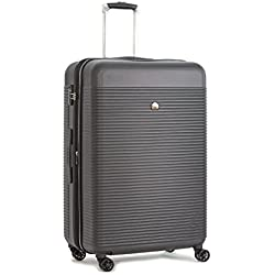 Delsey Luggage Panorama Expandable Spinner Trolley Luggage (Platinum-29 Inch)