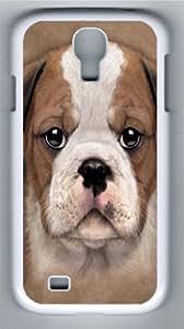 Bulldog Puppy Polycarbonate Hard Case Cover for Samsung Galaxy S4/Samsung Galaxy I9500 White