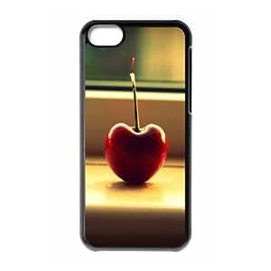 iPhone 5C Case,Cherry Fruit Macro Hard Shell Back Case for Black iPhone 5C Okaycosama352668
