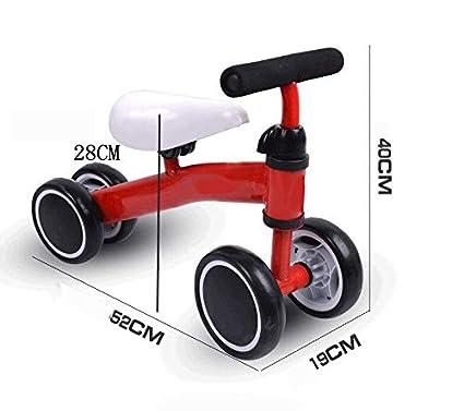 BABIFIS Bicicletas deslizantes para bebés Paseo en Bicicleta para niños de Cuatro Ruedas Equilibrio para Auto