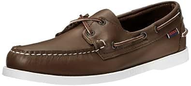 Sebago Men's Docksides Brown Elk Boat Shoes, 5 W