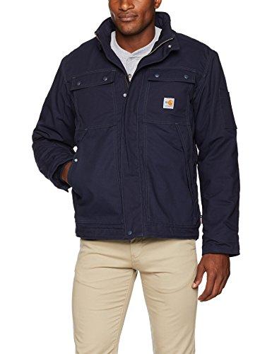 Carhartt Men's Flame Resistant Full Swing Quick Duck Coat, Dark Navy, Medium