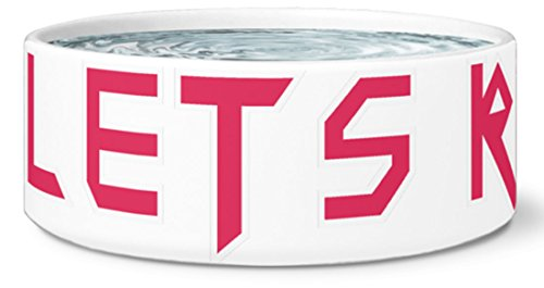 Teelaunch Dog Bowl by Kyrola - Lets Rock - Right After I Eat - Funny Gift Dog Bowl