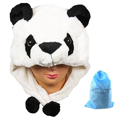 [Silver Fever Plush Soft Animal Beanie Hat (Panda)] (Fever Panda Adult Costumes)