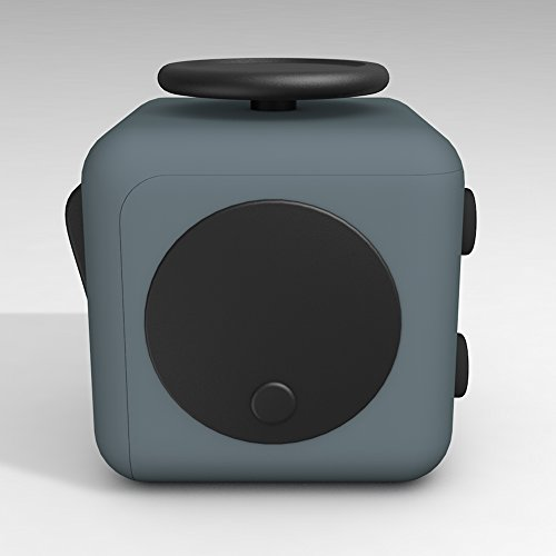 D-JOY Cube Fidget Toy Cube Relieves Stress and Anxiety Attention Toy for Work, Class, Home (Dark Gray) Photo #2