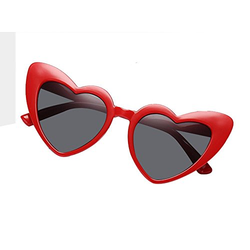 Heart Shaped Sunglasses,Aolvo Retro Cute Lightweight Plastic Frame Eyewear HD Mirror for Women/Girls UV400 - Faces Shaped Frames Heart For