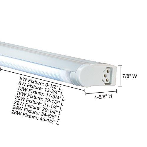 Jesco Lighting SG4A-24SW-41-S 24W Adjustable T4 Fluorescent Undercabinet Fixture With Rocker Switch44; Silver - 4100K