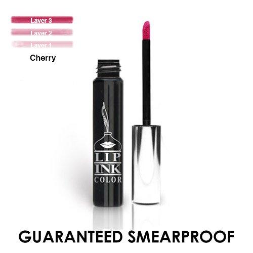 (LIP INK Organic Vegan 100% Smearproof Liquid Lipstick - Cherry)
