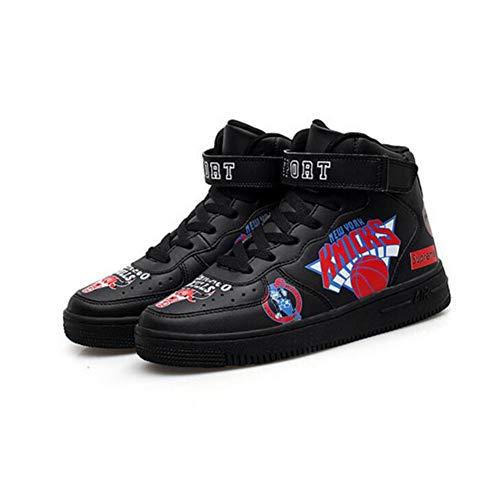 Color Hop Alto Size 5 Hip UK6 CN40 Negro tacón Mujeres Coreanos Casuales Deportivos Zapatos Zapatos Zapatos FH EU39 zHqEPP
