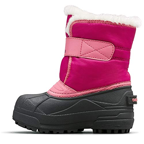 Sorel - Youth Snow Commander Snow Boots for Kids, Tropic Pink, Deep Blush, 8 M US