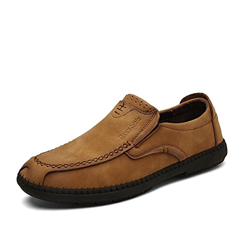 Mens Fashion Driving Shoes Penny Cattle suede Leather Casual Loafers Breathable Shoes