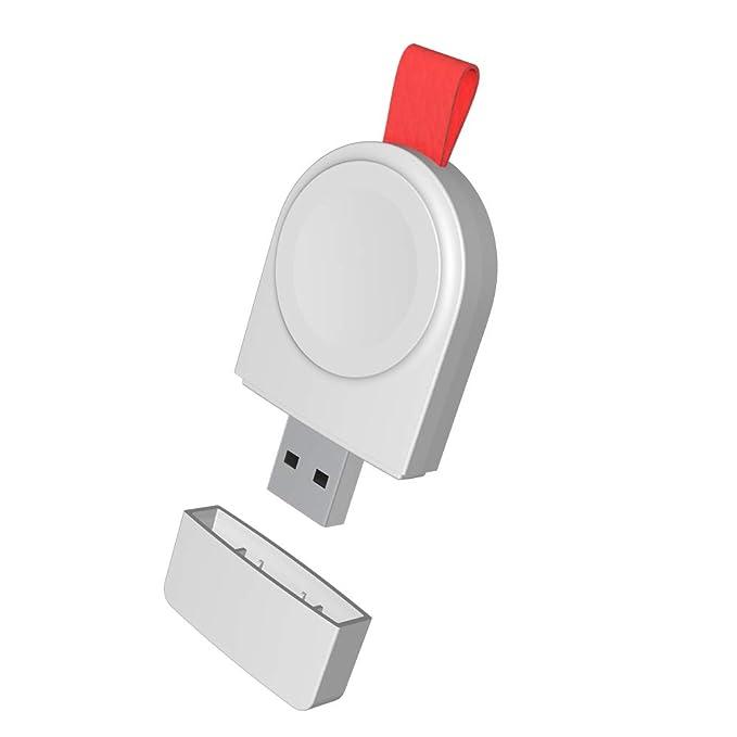 DOMESKIN Cargador USB inalámbrico Compatible con Apple Watch ...