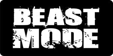 BEAST MODE Motivation Steel License Plate Frame