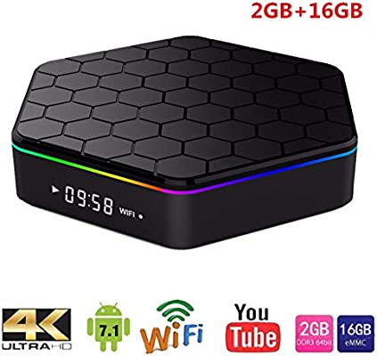 LTLZCY Android 7.1 TV Box [3GB RAM+32GB ROM] Android TV Box S912 Corteza Octa-Core A53 Soporte 2K*4K, WiFi 2.4G/5G,BT,Smart TV Box,2g+16g,USPlug: Amazon.es: Hogar
