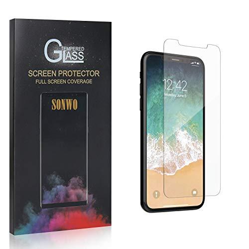 SONWO Panzerglas Schutzfolie für iPhone 11 Pro, 4 Stück Anti-Kratzen Displayschutzfolie für iPhone 11 Pro