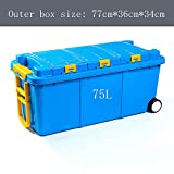AXWT Car Trunk Storage Box Storage Box Car Storage Supplies Car Debris Storage Box Car Finishing Box Pulley Storage Box (Color : Blue)