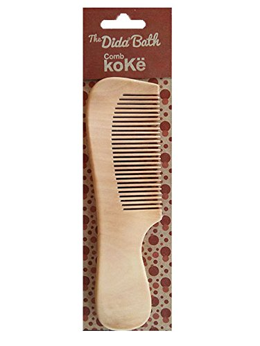 The Dida World Bath  –   Children's Wooden Comb, Natural Colour S.C.P.