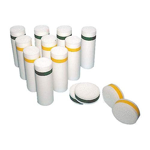 FLAGHOUSE Pull-Buoy - Foam Bowling Pins and Discs Set - Ethafoam - High-Density - Soft - Low Sound by FLAGHOUSE