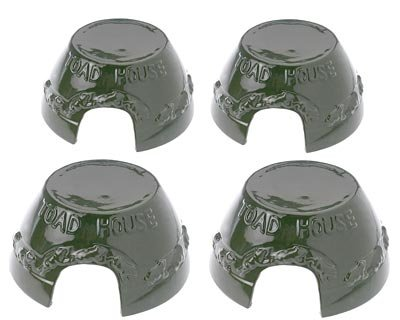 BestNest Four Pack of Esschert Design Green Toad Houses