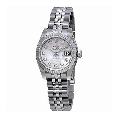 Rolex Datejust 26 Automatic Diamond Ladies Stainless Steel Jubilee Watch 179174PMDJ