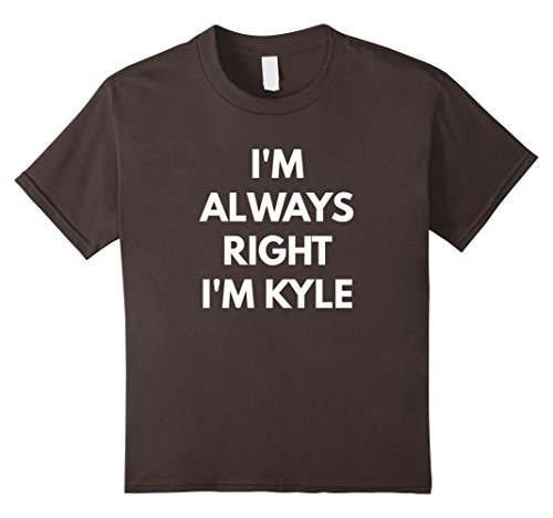 Kids I'm Always Right I'm Kyle t-shirt - Sarcastic Shirts 6 Asphalt
