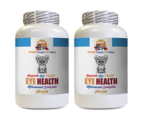 cat Eye Care - Eye Health Solution for Cats - Best Vision - Helps Dry Itchy Eyes - Advanced Formula - cat Eye Care Products - 120 Tablets (2 Bottles)