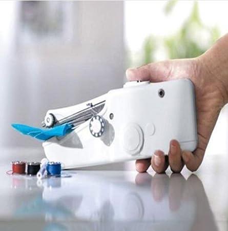 Mini máquina de coser portátil eléctrica. De bolsillo inalámbrico para la casa, en viaje - Máquina de coser a mano -: Amazon.es: Hogar