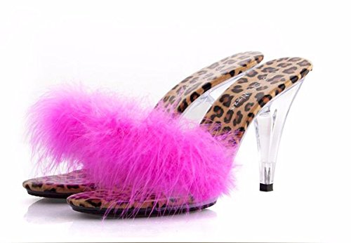 Banquete Bien Mujer De Cristal Cool Zapatos Tacon KPHY Cm color Alto 10 De Rose Transparente De Tacon Zapatos Zapatillas Zapatillas Empalme Sexy nSXwqHw7T