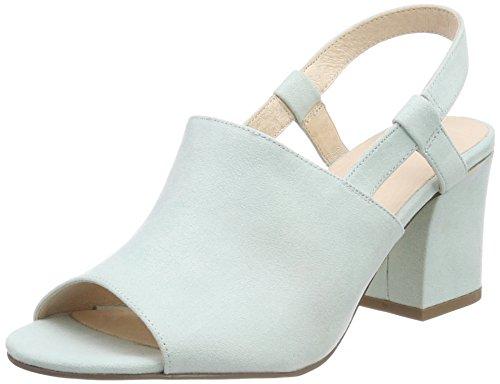 Scarpe Sandal Bianco Donna Col mint Mule 36 Tacco Turchese qCcW1Ec