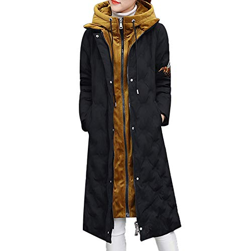 Limsea 2018 Women Jacket Overcoat Parka Outwear Hooded Winter Warm Long Thick Cotton Slim XX-Large Black