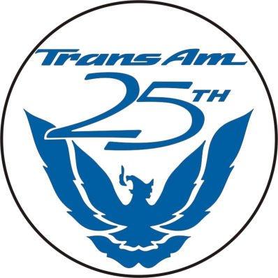 Pontiac Firebird Trans Am 25th Anniversary Wheel Center Decal Set