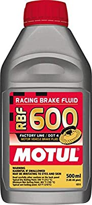 Motul std color MTL100949 8068HL RBF 600 Factory Line Dot-4 100 Percent Synthetic Racing Brake Fluid-500, 500 ml