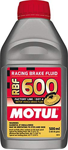 (Motul std color MTL100949 8068HL RBF 600 Factory Line Dot-4 100 Percent Synthetic Racing Brake Fluid-500, 500 ml)