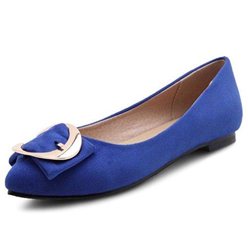 Sintético Azul Cuña de Sandalias Material Mujer Smilice con g0PXznR