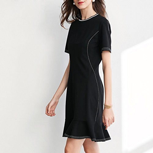 Short Casual Women`s cotyledon Dress Line Dresses A Hem Sleeve Ruffle 5Stgq