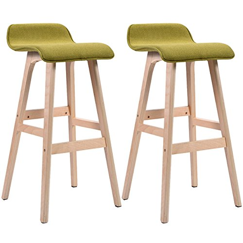 Set of 2 Vintage Style Winsome Wood Bar Stool Dining Chair Counter Height 29-Inch Green #831 (Stools For Ebay Bar Sale)