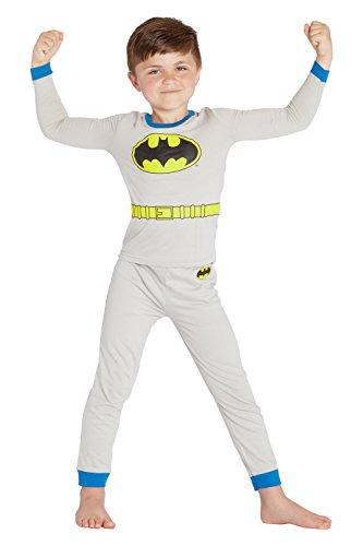 DC Comics 'Batman' Halloween Logo Costume Pajama Set, Gray, 10 -