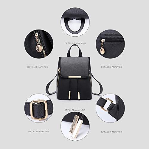 di delle borse zaino di dell'unità eleganti Zaino del cuoio semplici borsa viaggio di capacità base nere Day donne a elaborazione amore grande di tracolla regolabili dello per wEfAA6qd