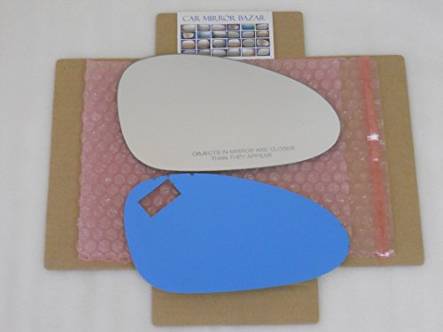 CHECK SIZE New Replacement Mirror Glass with FULL SIZE ADHESIVE for PORSCHE 911 CAYMAN BOXSTER Passenger Side View Right RH