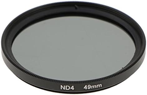 グレー NDフィルター 中性濃度 DSLRカメラ対応 ニュートラル レンズフィルター 10サイズ選択 - 49mm
