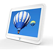 Digital Picture Frame, HP 10.1 inch WiFi Photo Frame, 1280x800 HD IPS Display, 8GB Internal Storage, iPhone & Android App, Support Photo, Music, Calendar with Built-in Speakers - White