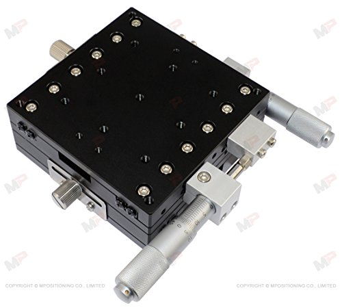 MPositioning T90XY-25R XY 2 Axis Linear Translation Stage with 25 mm Travel 90 x 90 mm Platform Table