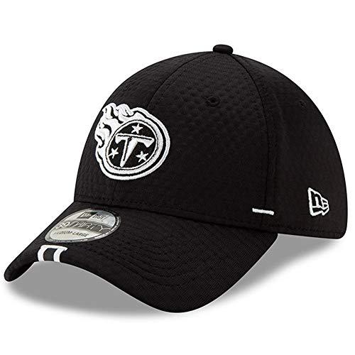 (New Era Tennessee Titans NFL 2019 Training Camp 3930 39THIRTY Flexfit Cap Hat Black - Tennessee Titans,Black,L/XL)