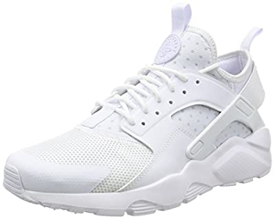 Nike Mens Air Huarache Run Ultra (White/White-White, 10.5 M US)