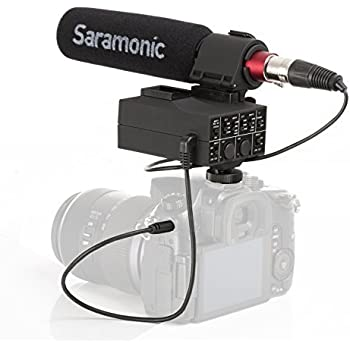 Saramonic MixMic Shotgun Microphone with Integrated 2-Channel XLR Audio Adapter for DSLR Cameras & Camcorders